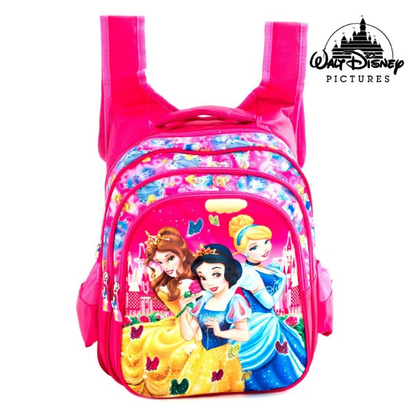 Mochila Infantil Escolar de Costas 3D Princesas