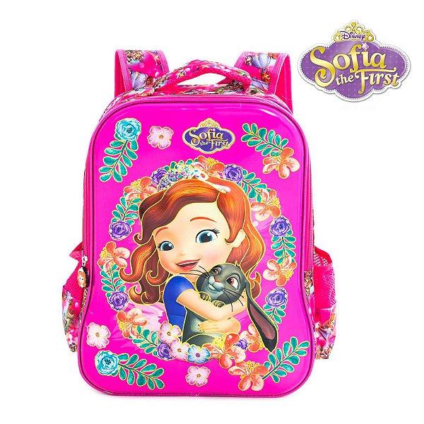 Mochila Infantil Escolar de Costas 3D Princesinha Sofia