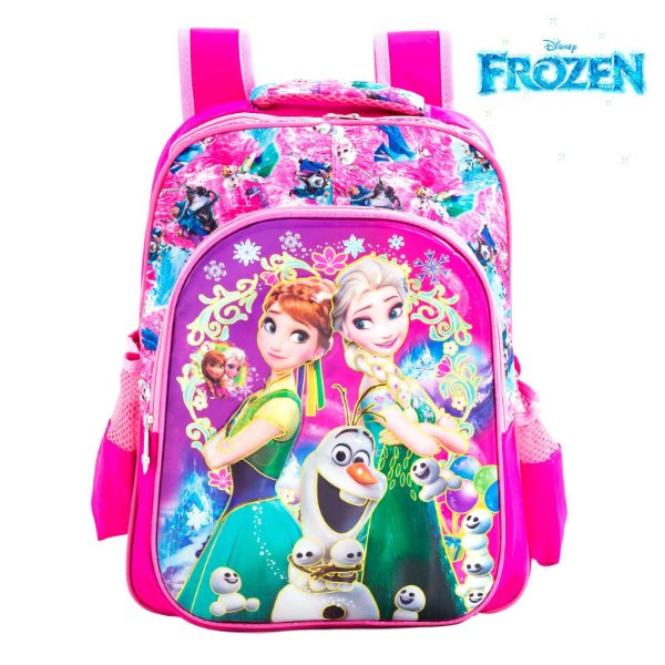 Mochila Infantil 3D Escolar de Costas Elsa e Anna Frozen