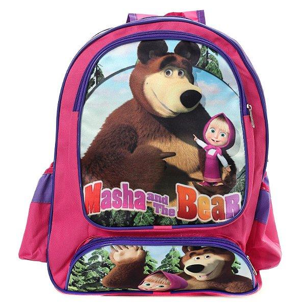 Mochila Infantil Escolar de Costas Masha e o Urso
