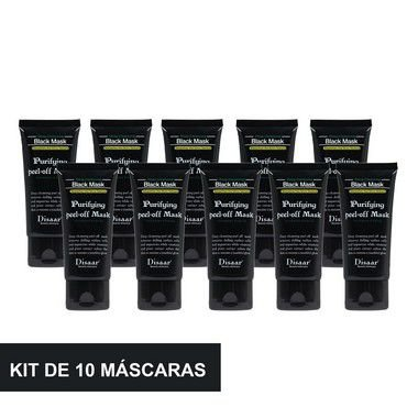 Kit 10 Máscara Preta Removedora De Cravos Black Mask Shills 50ML