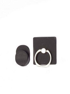 Suporte Anel Ring Com Suporte Para Smartphone Preto