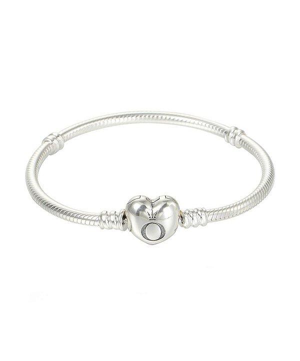 Bracelete Pandora com Fecho Coração PAND