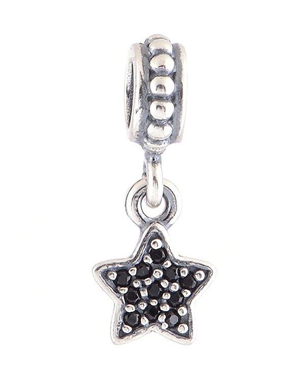 Charm Pendente Estrela Preto PAND