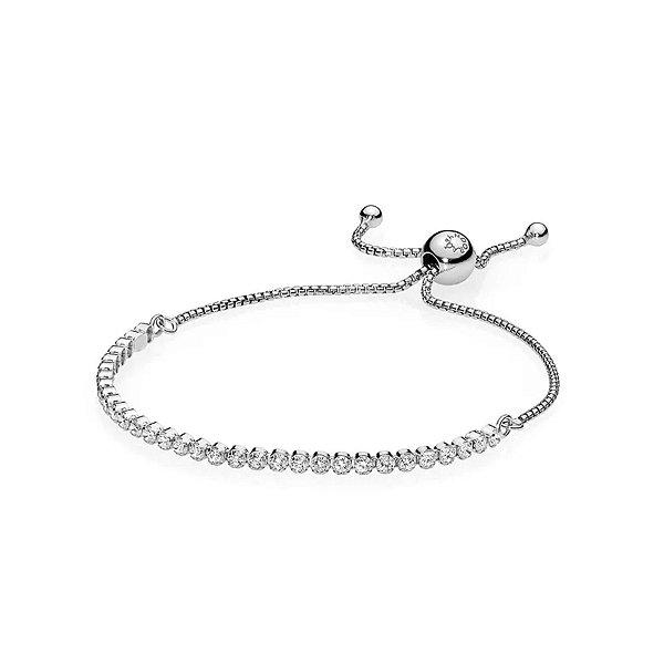 Bracelete Pandora Cordão Brilhante PAND