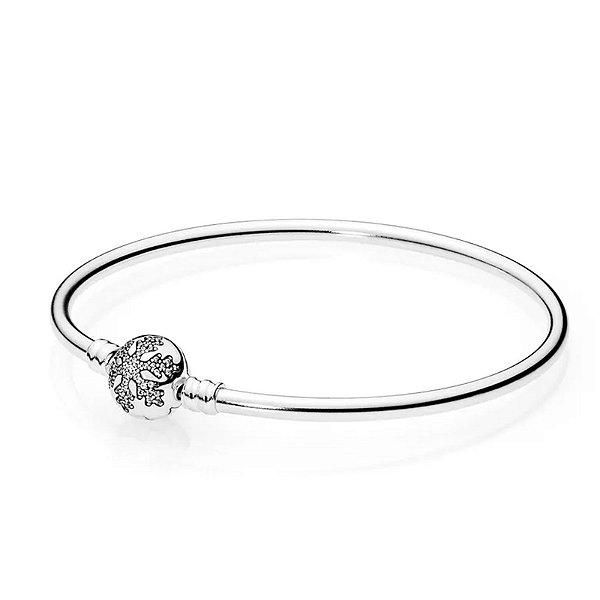 Bracelete Pandora Rígido Floco de Neve PAND