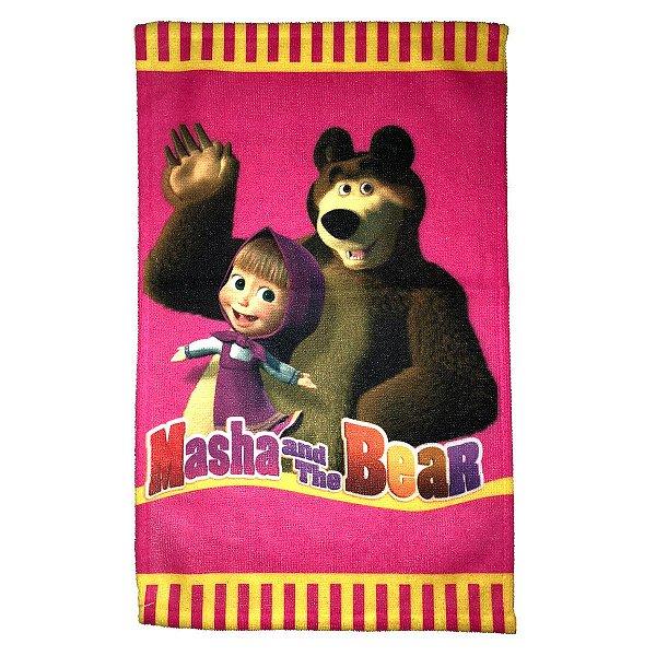 Toalha De Rosto E Mão Masha e o Urso Felpuda Infantil Personagens