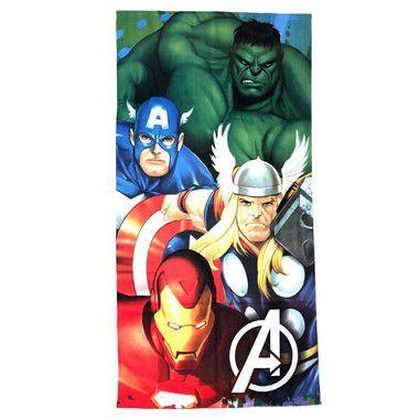 Toalha De Banho Avengers Felpuda Infantil Personagens