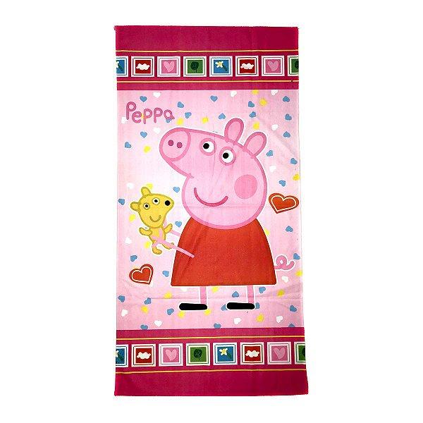 Toalha De Banho Peppa Pig Felpuda Infantil Personagens