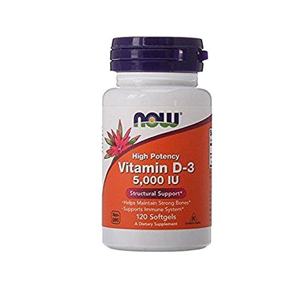 NOW Foods Vitamin D3 5000 Iu QBAR