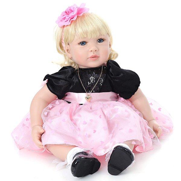 Bebe Reborn Kaydora Boneca Menina Realista Americana BEBE