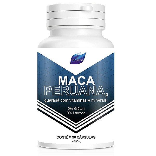 Maca Peruana 100%Pura + Vitaminas 500mg - 90 Cápsulas