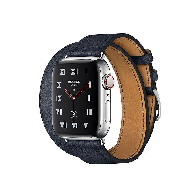 9c833e3e0bd Relógio Apple Watch Series 4 Hermès Azul Marinho GPS+Celular 40mm ...