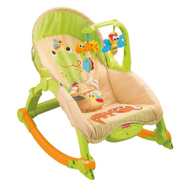 Cadeira de Descanso e Balanço para Bebê Brouncer Fisher Price Rocker Portátil