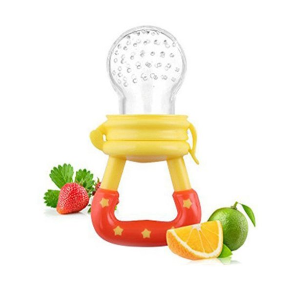 Chupeta Alimentadora Bico Para Bebê - Mordedor Papinha Frutas Amarelo
