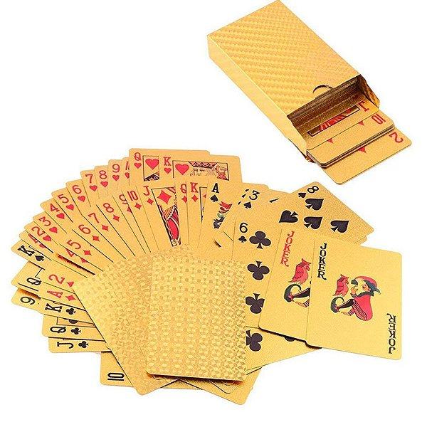 Baralho Dourado de Poker Truco Jogos de Cartas ESBJ