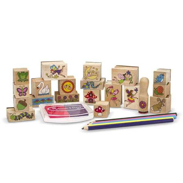 Kit 20 Carimbos de Madeira Stamp-a-Scene da Melissa & Doug Infantil  ESBJ