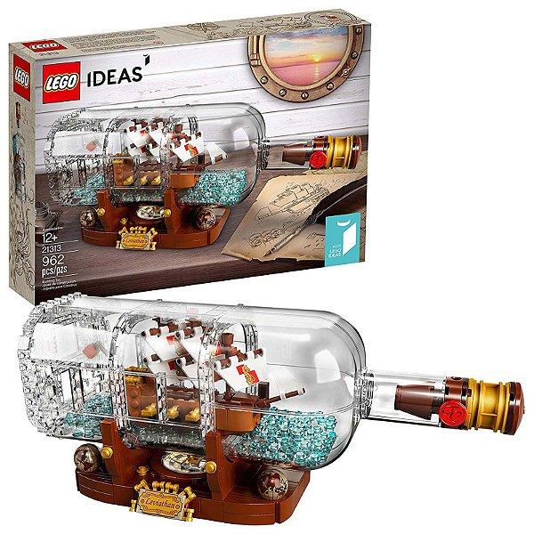 21313 - Lego Ideas Kit de Construção Navio em uma Garrafa ESBJ