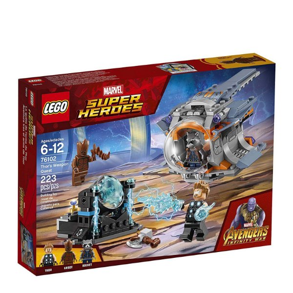 76102 - Lego Marvel Super Heroes Kit de Construção Vingadores Gerra Infinita Thor   ESBJ