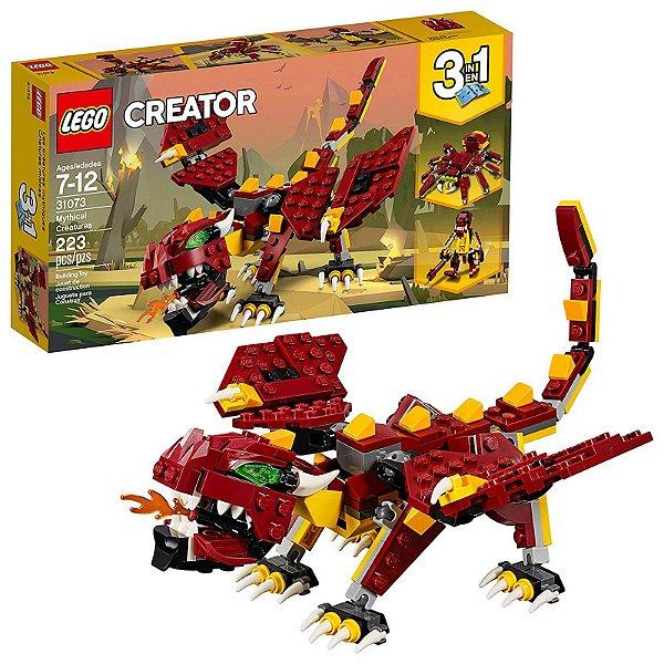 31073 - Lego Creator 3 em 1 Kit de Construção Criaturas Místicas  ESBJ