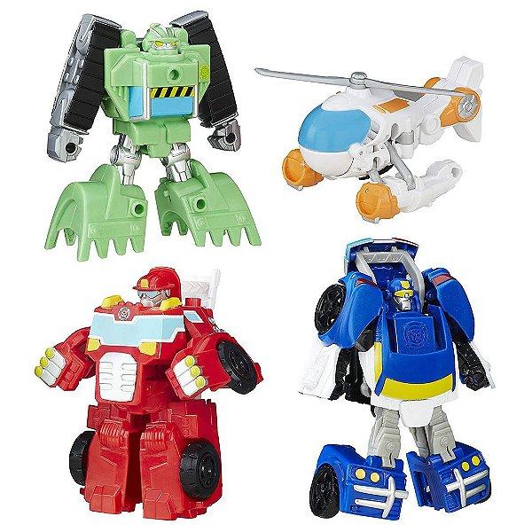 Kit 4 Robô Rescue Bots Playskool Heróis Transformers Equipe De Resgate  ESBJ
