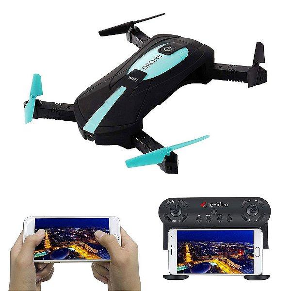 Drone Idea 6 RC Quadcopters Câmera Wifi 720p HD FPV 2.4Ghz LED RTF Hold Headless 3D Flip DRON