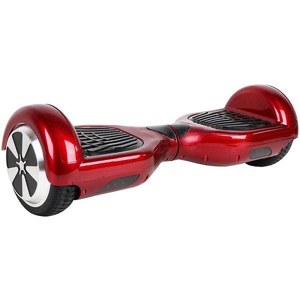 """Hoverboard Elétrico Fujilink Vermelho Vinho 6.5"""" - Smart Balance - Led"""
