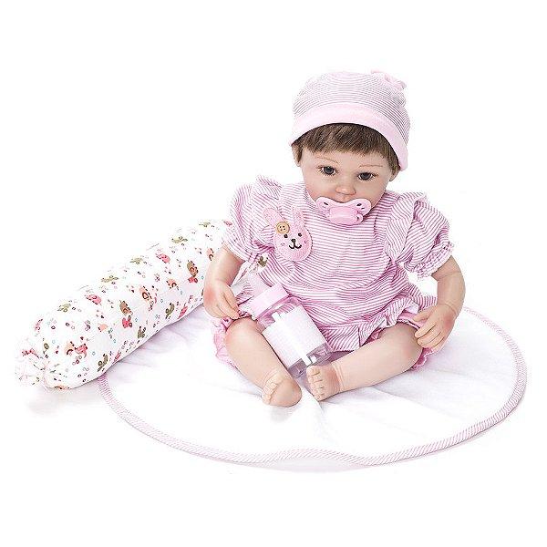Boneca Laura Baby Nanda - Bebe Reborn Kaydora BEBE