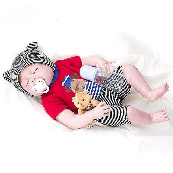 Bebê Reborn Kaydora Bebê Dormindo Pedro BEBE