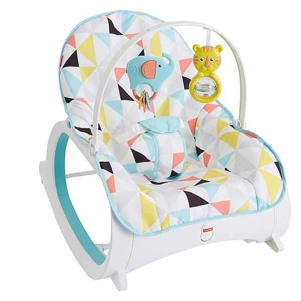 Cadeira de Descanso e Balanço para Bebê Brouncer Fisher Price Rocker Infantil