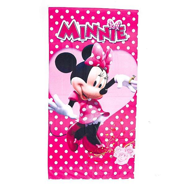 Toalha De Banho Minnie Mouse  Felpuda Infantil Personagens