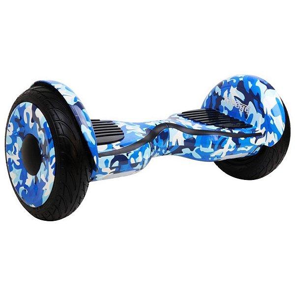"""Hoverboard Elétrico Azul Camuflagem Freego W3S Balance Wheel com Roda de 10"""""""