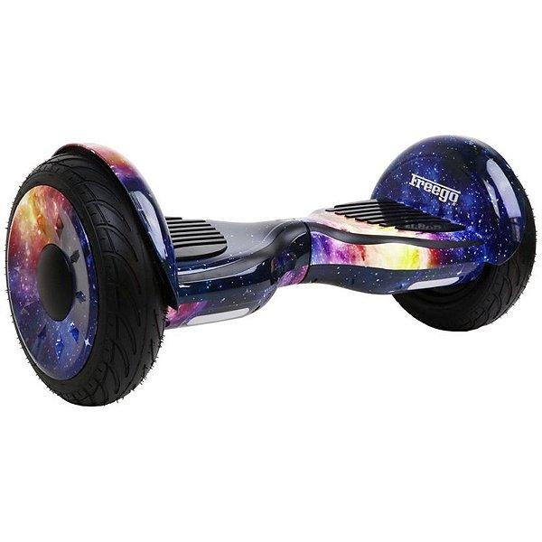 """Hoverboard Elétrico Roxo Espacial Freego W3S Balance Wheel com Roda de 10"""""""