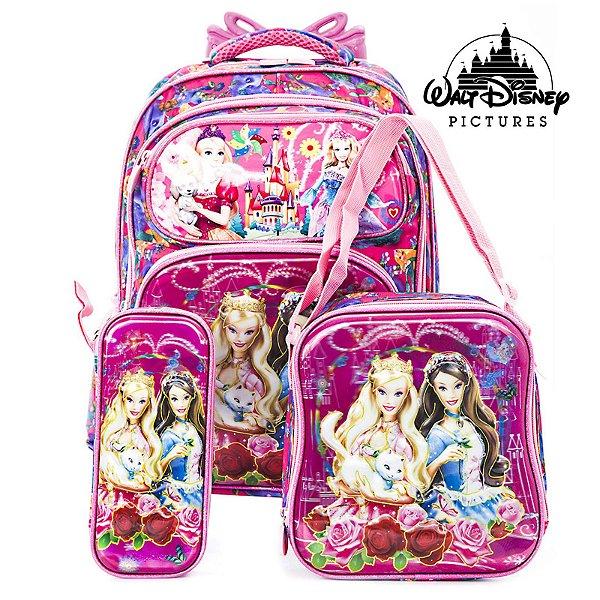 Kit Mochila Rodinha Barbie em A Princesa e a Plebeia