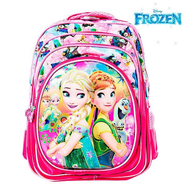 Mochila Infantil Escolar 3D Frozen Elsa e Anna de Costas