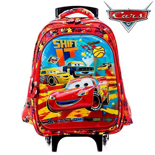 Mochila 3D Escolar Infantil Carros Mcqeemm Com Rodinhas
