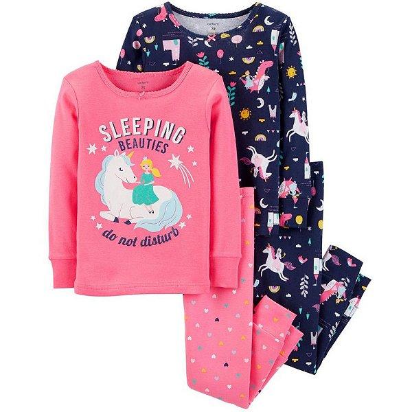 Conjunto Pijama 4 Peças Unicórnio Carter´s