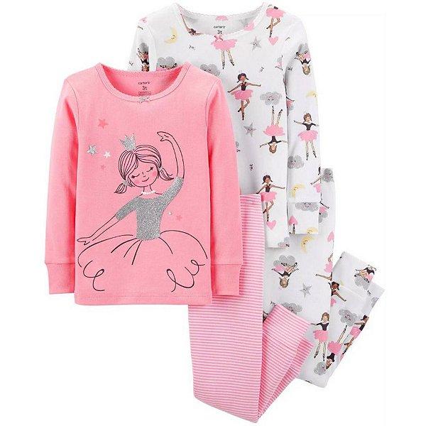 Conjunto Pijama 4 Peças Bailarina Carter´s
