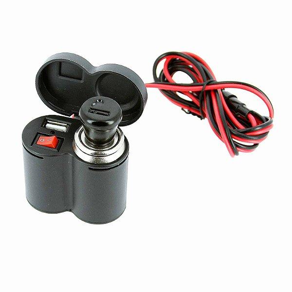 Carregador, GPS ou Eletrônicos que Utilizam USB Para Moto