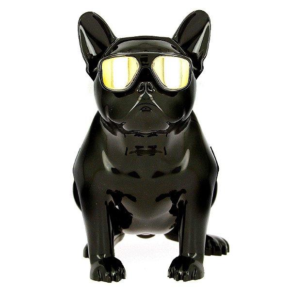 Caixa De Som Bluetooth Bulldog Francês Cachorro Portatil