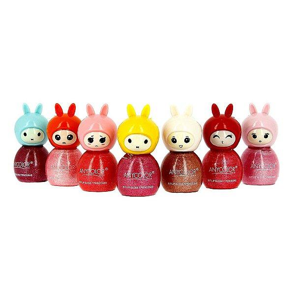 Kit Lip Gloss Princesas com 7 unidades