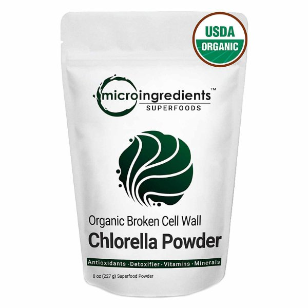 Chlorella Em Pó Orgânica Superalimentos Para Vitaminas Ricas 227g