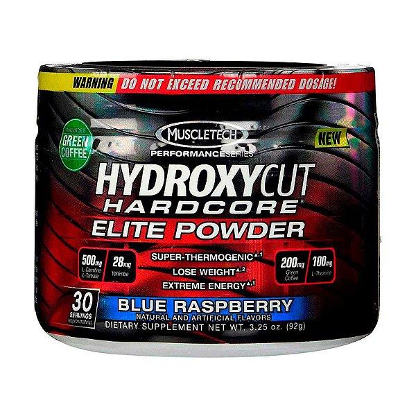 Suplemento Hydroxycut MuscleTech Hardcore Elite Azul Pó Framboesas 30 Porções