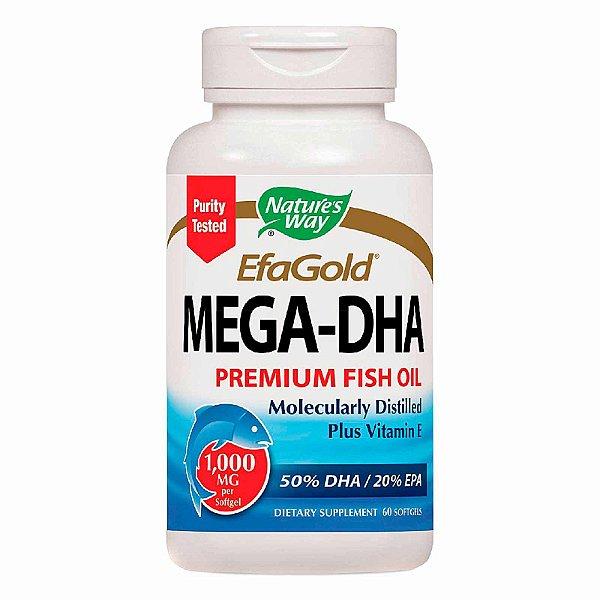 Suplemento Mega-DHA Óleo de Peixe Premium 1000mg 60 Softgels