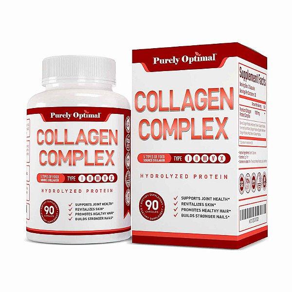 Suplemento Cápsulas Premium Multi Colageno Peptídeos  90 Cápsulas