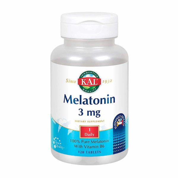 Suplemento Melatonina Kal 3mg 120 Tablets