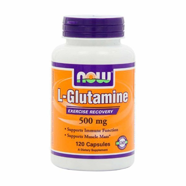 L-Glutamine Now Foods 500mg 120 Cápsulas