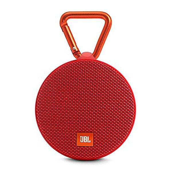 Caixa de Som Bluetooth JBL Speaker Portátil Clip 2 Vermelha