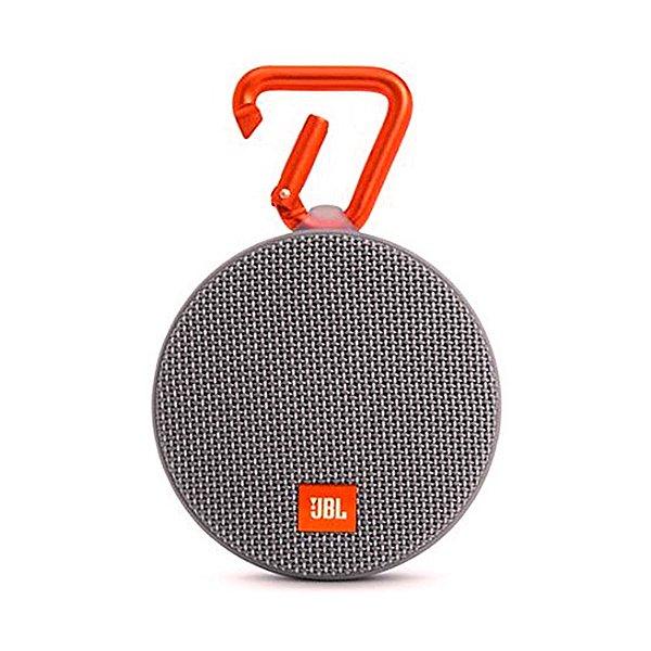 Caixa de Som Bluetooth JBL Speaker Portátil Clip 2 Cinza
