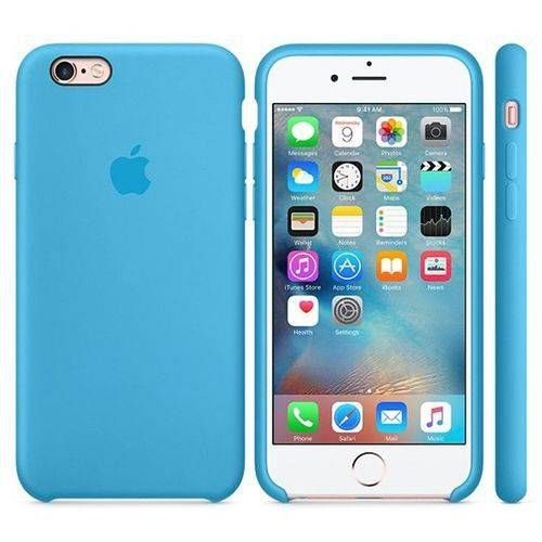 Capa Case Iphone 7 e 8 Silicone Apple Azul Bebê